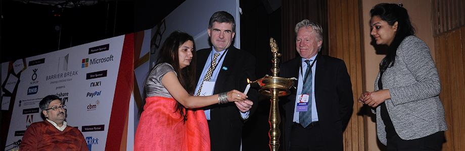 Lighting of the lamp to inaugurate Techshare India 2014