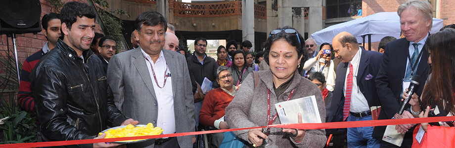 Stuti Kacker, Secretary department of disability affairs Government of India inaugurating the exhibition at Techshare India 2014.