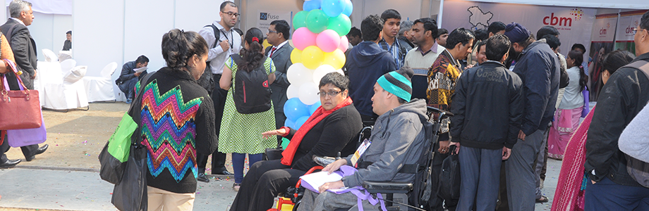 Visitors at the exhibition zone of Techshare India